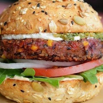 Caramelize Veg. Burger