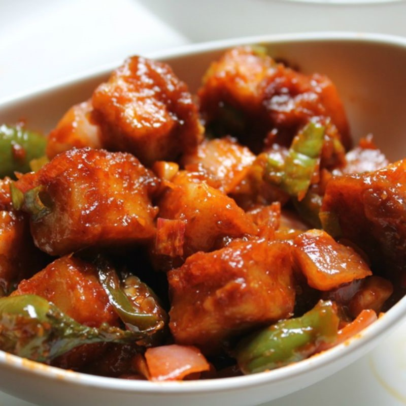 Chilli Paneer Bytes in Mexican Flavor