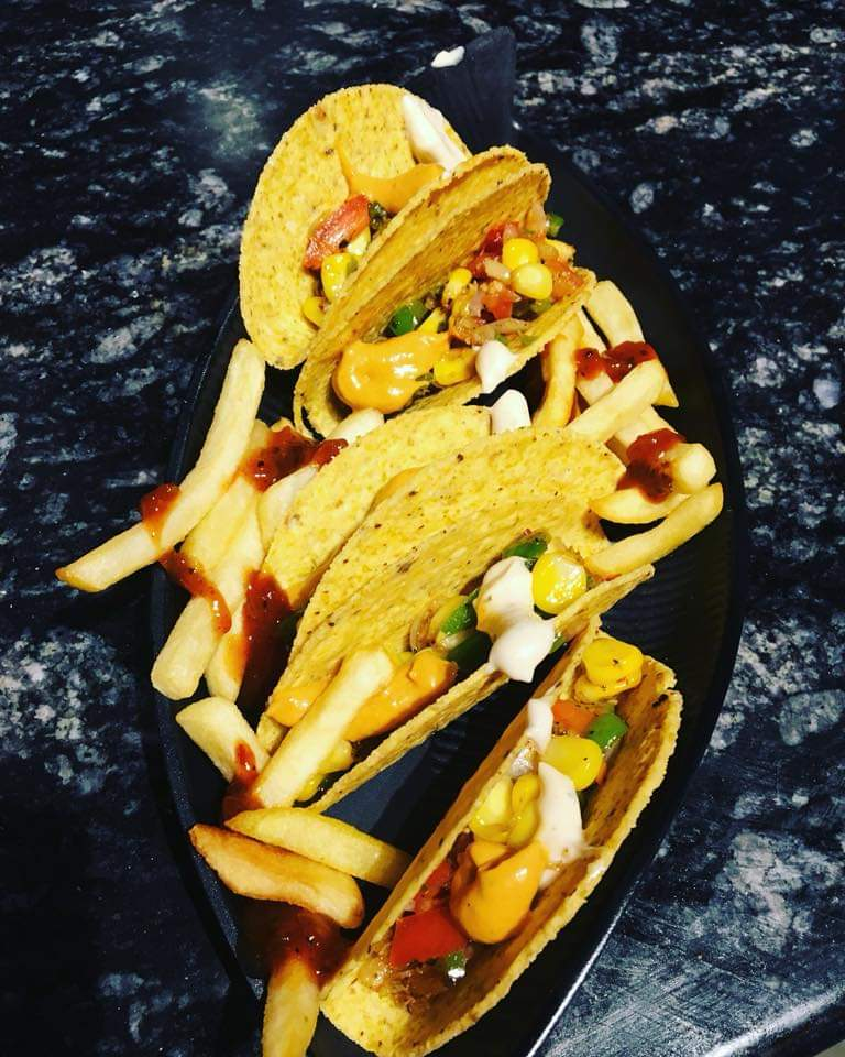 Mexican Tacos (5pc)with fries