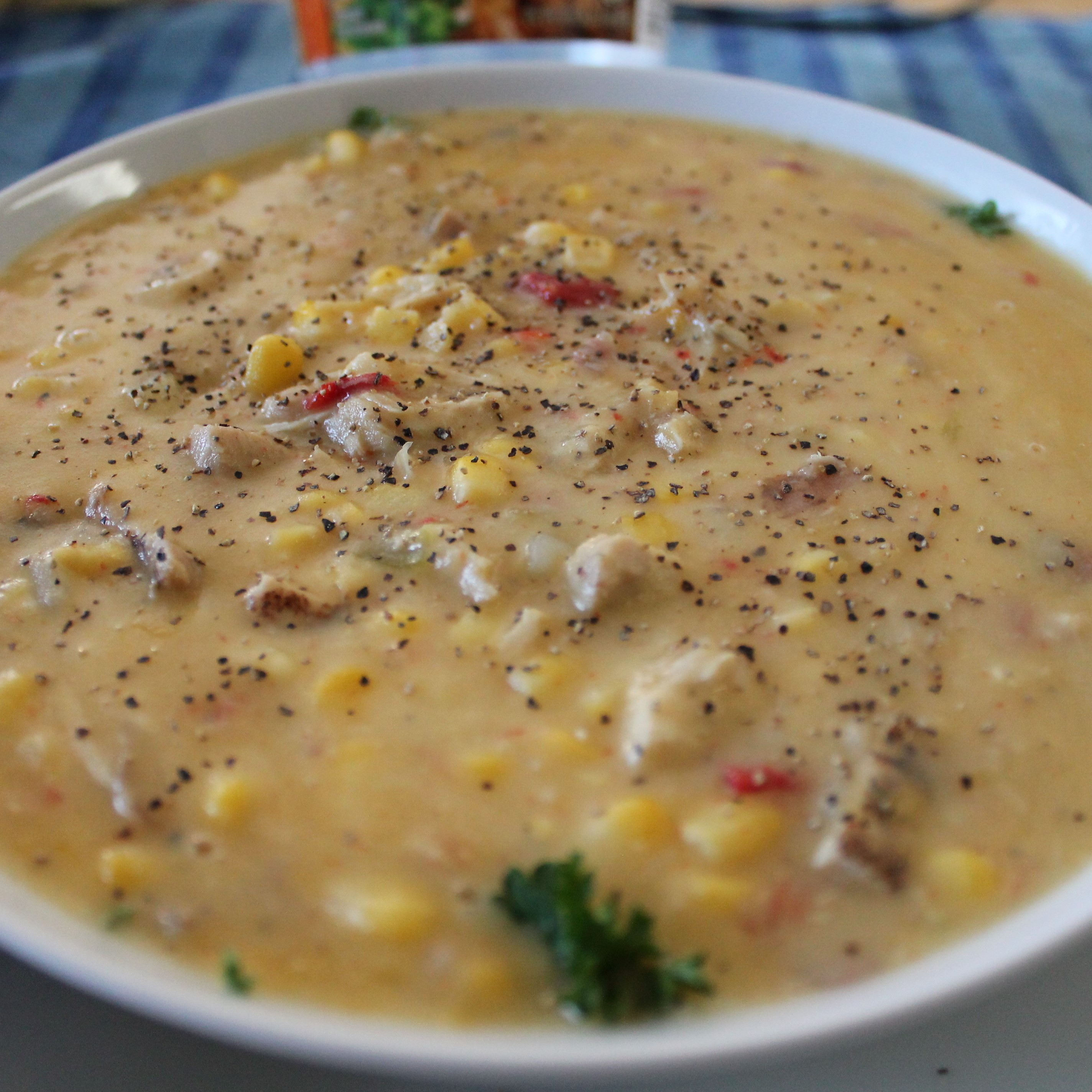Exotic Vegetable Sweet Corn Soup