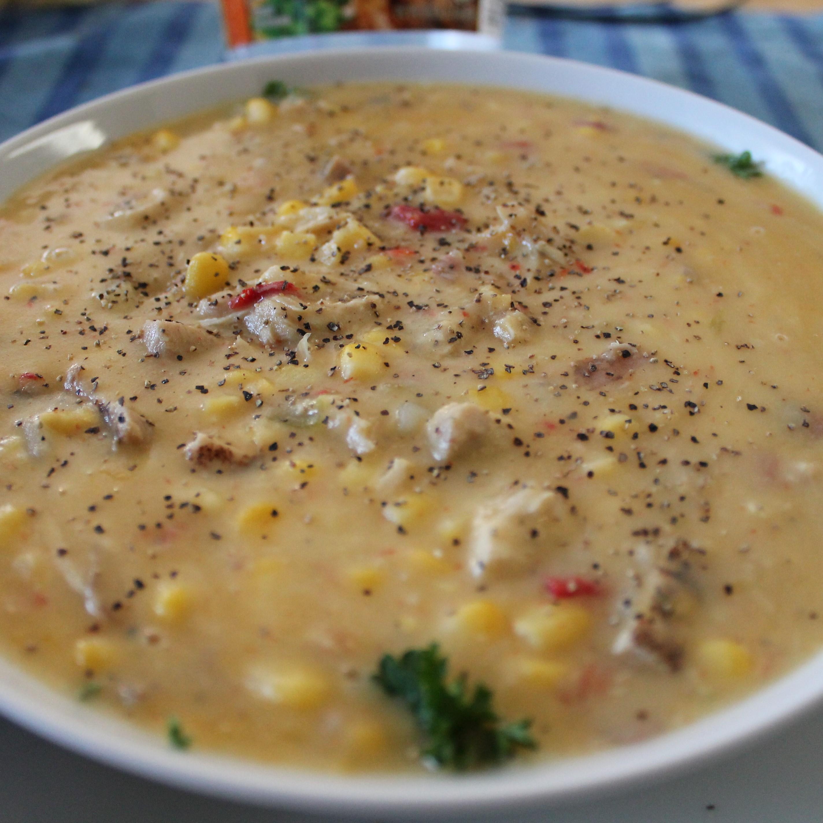 Exotic Vegetable Sweet Corn Soup