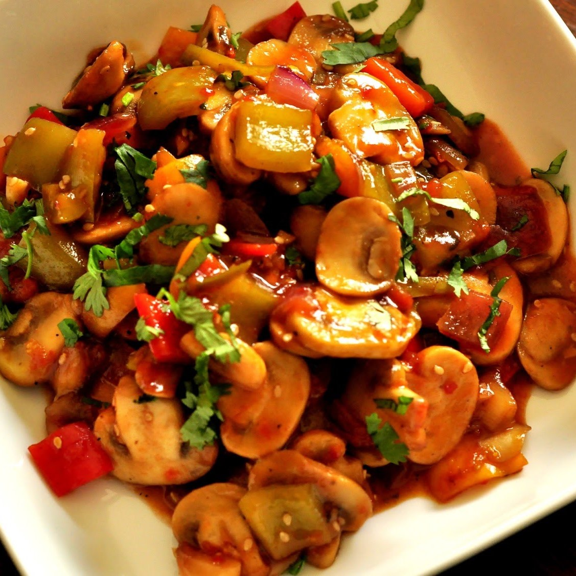 Mushroom Chilli