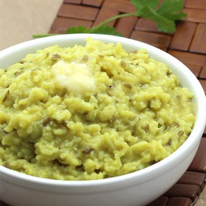 Dal Khichdi With Curd