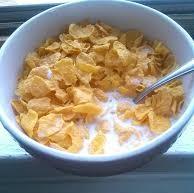 Hot Milk With Cornflakes
