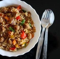 Soya Chaap Fried Rice