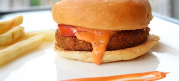 Aloo Tikki Corn Burger