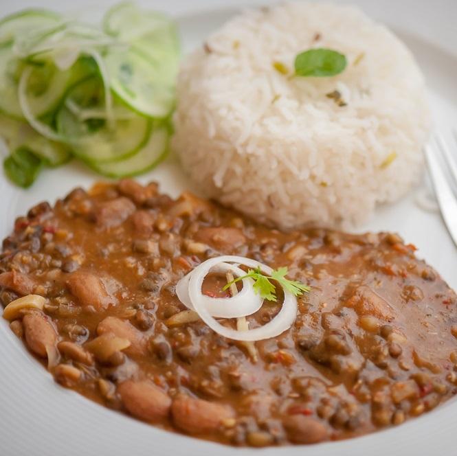 Rajma Rice Desi Ghee Fry