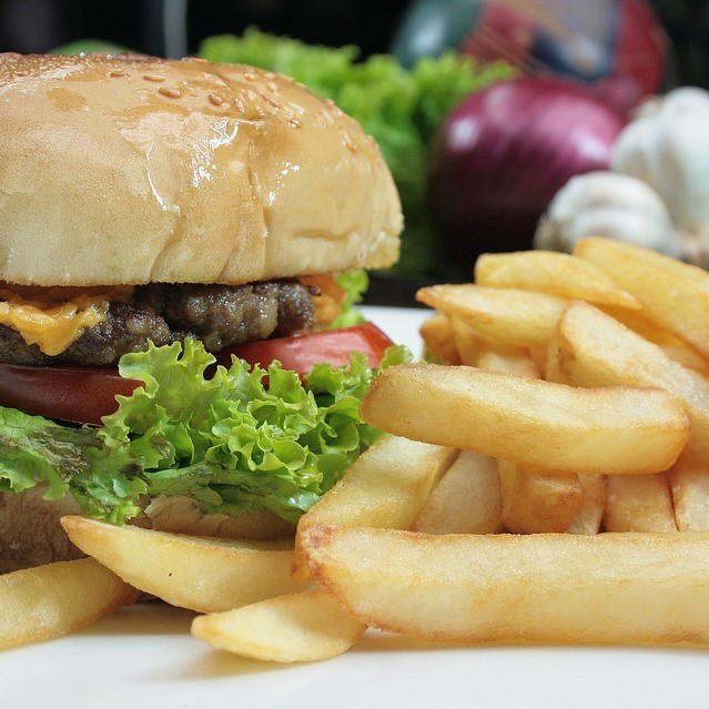 Veg. Thick Burger with Cheese