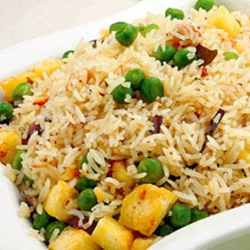 Cheese & Peas Pulao