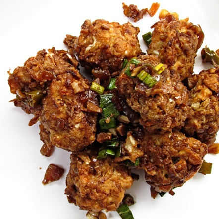 Manchurian Balls in Hot Garlic Sauce