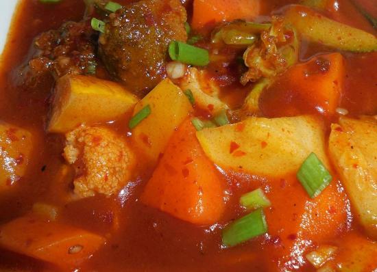 Mix Veg. With Hot Garlic Sauce