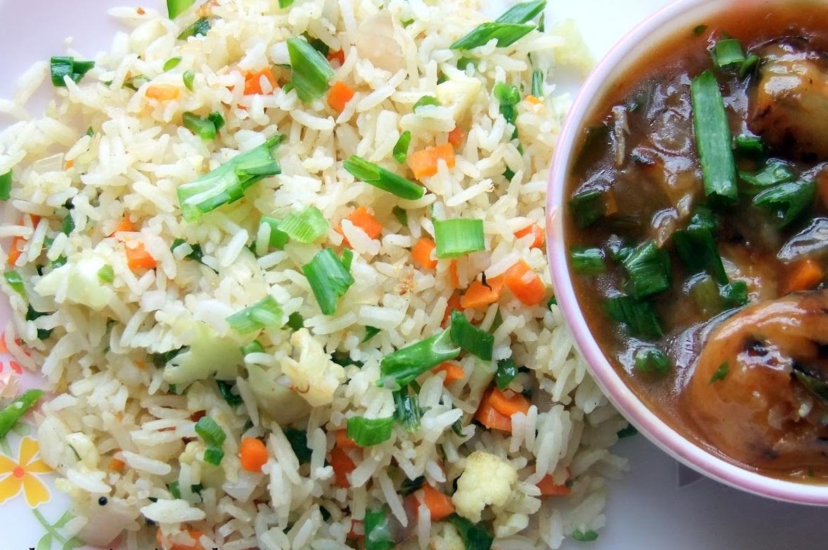 Fried Rice + Manchurian